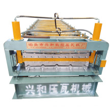 Máquina formadora de rolo de camada dupla para folha de telhado rolante