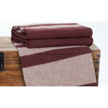 Manta tejida de lana merina de lana tejida