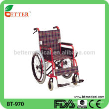 Hot sale Steel used manual standing wheelchair