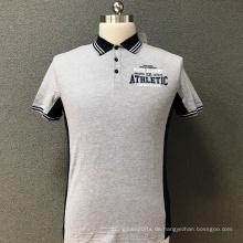 Männer dünnes bedrucktes T-Shirt aus Baumwolle