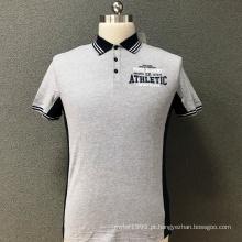 T-shirt estampado slim de algodão para homem