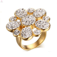 Wholesale 316L Handmade Design Crystal Rings Jewelry