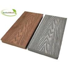 Solid 3D Grain Wood Plastic Composite Decking