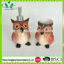 Ceramic Animal Eagle Shape Bathroom Set for Children