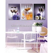 Arte colorido de la lona de la impresión del diseño / arte de la lona de la decoración de la pared para la sala de estar