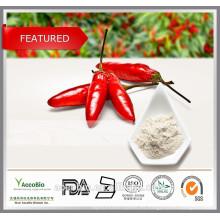 Extracto de pimienta de Cayena de alta calidad Capsaicin 95%, extracto puro de capsaicina a bajo precio