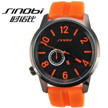 Unisex rubber band SHINOBI relojes MEN silicone jelly watch