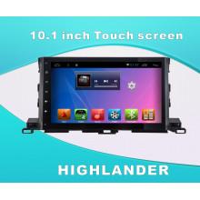 Система Android DVD GPS Автомобильное видео для Highlander 10,1-дюймовый сенсорный экран с WiFi / Bluetooth / TV