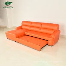 Chinese Style Corner L Shape Leisure Wooden Frame Furniture Sofa Bed