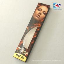 échantillon gratuit personnalisé extension de cheveux bundle boîte d'emballage