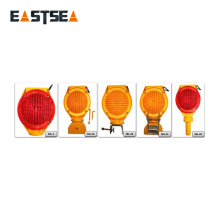 Luz de barricada vial de seguridad intermitente solar roja o amarilla de uso múltiple
