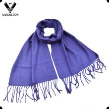 Леди чистый Цвет тканые дешевые простой шарф для Оптовая продажа