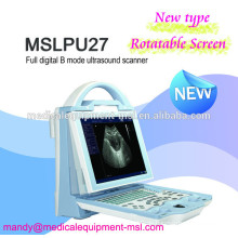MSLPU27M Neue Art tragbare Ultraschallmaschine, Mensch / Tier Software!