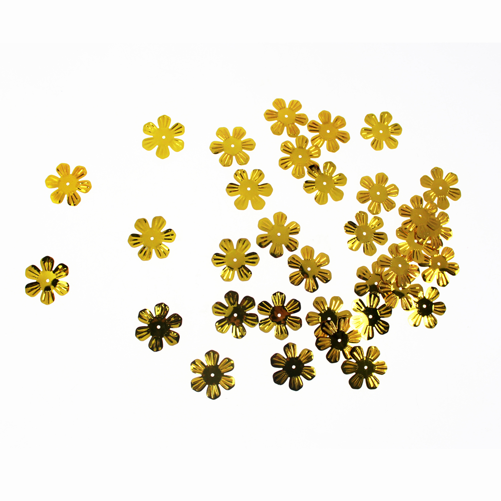 Gold Flower shape Sequin