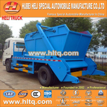 DONGFENG 4x2 190hp 10cbm roll off garbage truck trash cart container hooklift garbage truck new model good quality