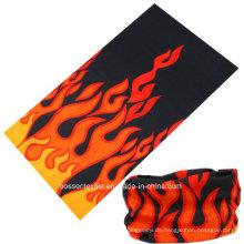 Werbe-Logo gedruckt benutzerdefinierte Buff Style Mikrofaser nahtlose röhrenförmige Bandana