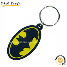 Oval Shaped Cool Rubber Keyring Wholesale Ym1126