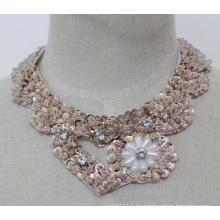 Frau Mode Modeschmuck Pailletten Herz Halsband Kleidungsstück Kragen (JE0140)