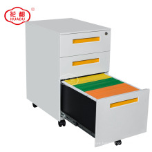 Steel Office 3 Drawer With Adjustable Pedestal Filing Cabinet