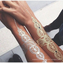 Tatuagens de etiqueta de corpo de tatuagem de hena
