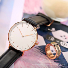 Relógio clássico do quartzo de Dw, relógio de aço inoxidável Hl-Bg-110 da forma