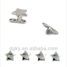 316 Surgical steel star shaped dermal piercing
