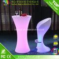 Table haute lumineuse de LED pour l'hôtel / événements / partie / boîte de nuit