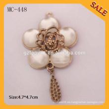 MC448 Flores forma diseño metal accesorios metal encanto para pulsera