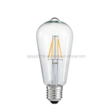Ampoule de filament de 3W St58 220V Dimmable LED