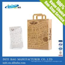 Zhejiang fabricant mode bon marché Shopper sac en papier Kraft