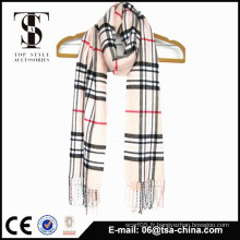 100% acrylique doux gros hommes de mode classique check scarf