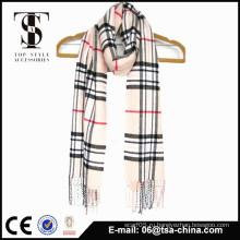 100% акриловый мягкий оптовый мужской классический чек шарф