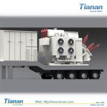 Transmissão de Energia de Emergência Distribuição Subestação Móvel Transformável / 35kv ~ 132kv Subestação Móvel Pré-fabricada