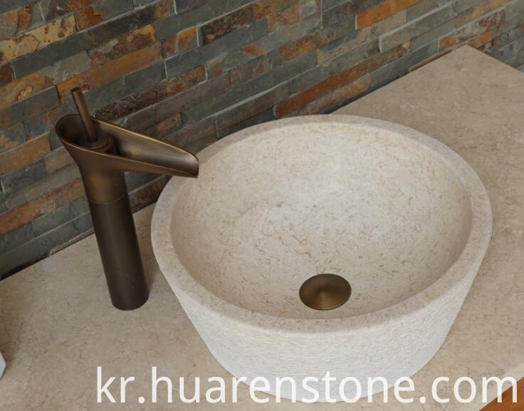 travertine bathroom sink