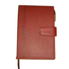 PU Leather Diary with Pen Holder Inside and Magnetic Flap Closure