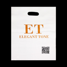 Die Cut Handle Plastic Bag With Logo