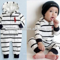 100% cotton stripped long sleeve children romper with hat