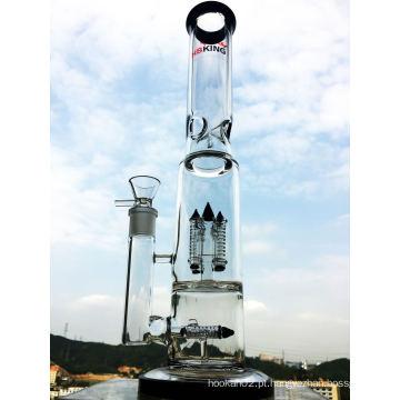 Reciclagem de vidro Tubo de fumar Hbking Tubo de água de vidro Pip baratos Tubo de fumar Favo de mel Tubo de água de vidro Rocket Inner Perc Tubo Hb-K6 Straight Glass