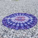 China supplier 100% cotton mandala round beach towel round beach towels with tassels circle beach towel