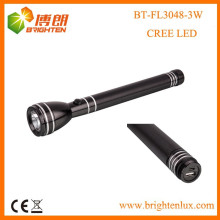 Fabrik Versorgung CE Rohs 3SC Nicd Batterie angetrieben leistungsstarke Aluminium Long Beam usa cree xpe 3w führte usb wiederaufladbare Taschenlampe
