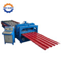 Panel Bumbung Warna Steel Glazed Roll Roll Forming Machine