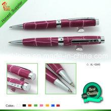 Bolinha de caneta em metal com capa bonita