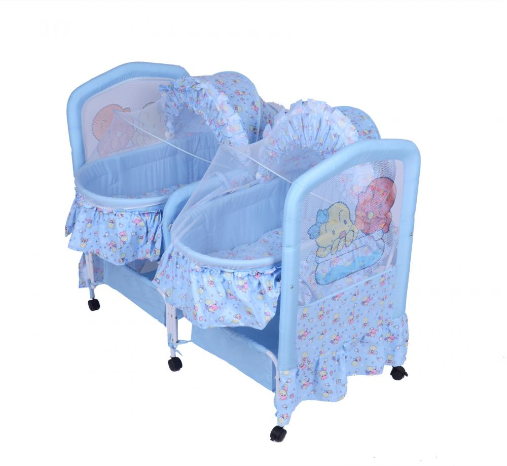 Twins Baby Bed with Mosquito Net