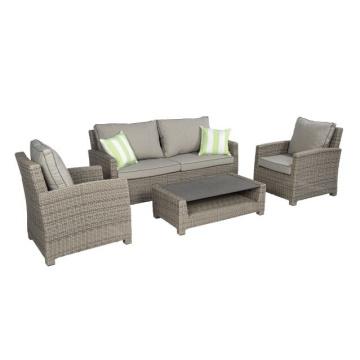 Sistema del sofá de jardín de mimbre mimbre al aire libre Salón Patio