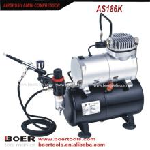 Kit de Compressor Airbrush com tanque de 3L