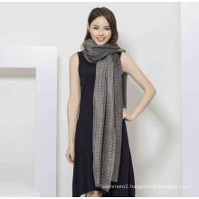 100%Cashmere Yarn Dye Scarf with Lurex Fashion Cashmere Shawl in Metallic