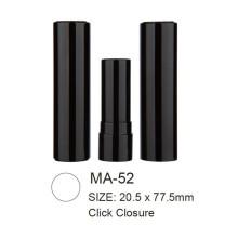 Round Aluminum Lipstick with Click Closure