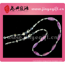 Fashion Design Crystal Shell Jewelry Gemstone Lanyard