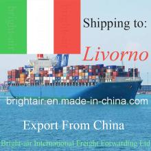 Agente de envío del transporte marítimo de China Logistics Company de China a Livorno