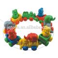 JQ6026 plástico animal trem edifício blocos link brinquedo para venda